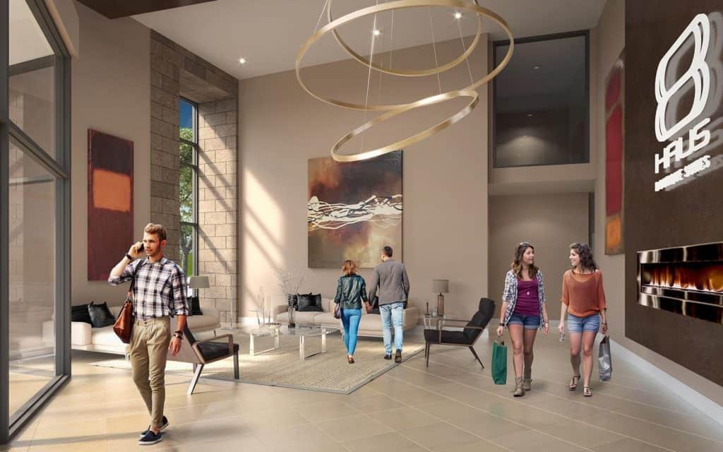 8 Haus Boutique Condos - Lobby - Interior Render