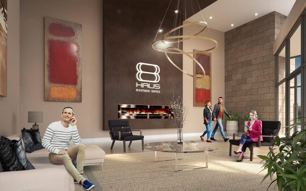8 Haus Boutique Condos - Lobby - Interior Render 2