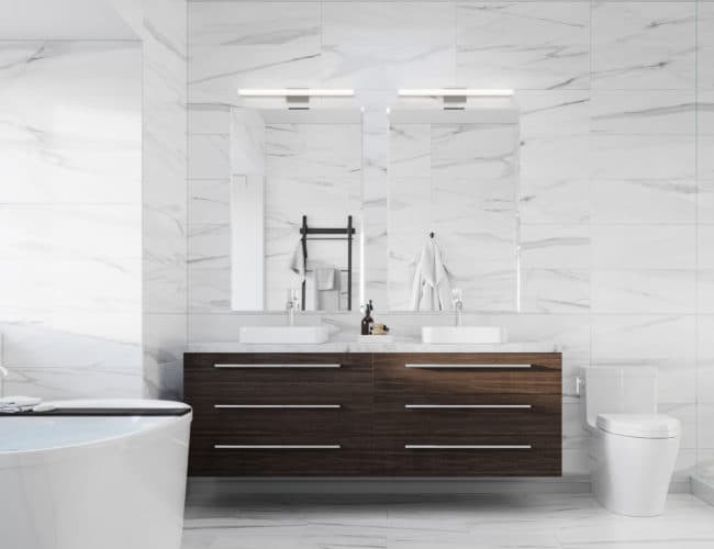 Bayview on the Park Towns - Suite - Bathroom - Interior Render