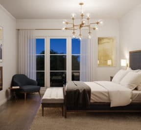 Bayview on the Park Towns - Suite - Bedroom - Interior Render