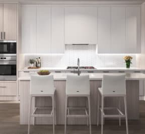 Bayview on the Park Towns - Suite - Kitchen - Interior Render 2