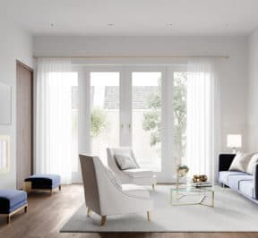 Bayview on the Park Towns - Suite - Living Room - Interior Render