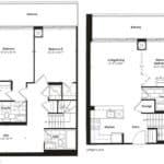 Empire Midtown Condos - B-1D - Floorplan
