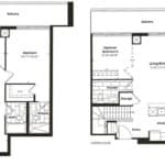 Empire Midtown Condos - B-2D - Floorplan