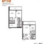 Empire Midtown Condos - D-1D - Floorplan