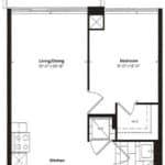 Empire Midtown Condos - H-1 - Floorplan