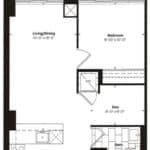 Empire Midtown Condos - H-3D - Floorplan