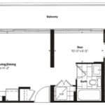 Empire Midtown Condos - H-8D - Floorplan