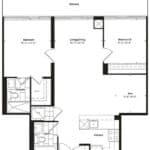 Empire Midtown Condos - I-1D - Floorplan