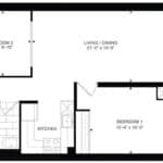 Empire Midtown Condos - I-2B - Floorplan