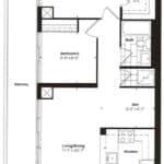 Empire Midtown Condos - I-4D - Floorplan