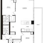 Empire Midtown Condos - I-6D - Floorplan