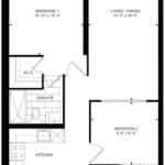 Empire Midtown Condos - I-6E - Floorplan