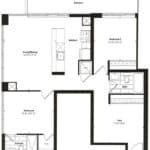 Empire Midtown Condos - I-7D - Floorplan