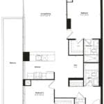 Empire Midtown Condos - I-8D - Floorplan