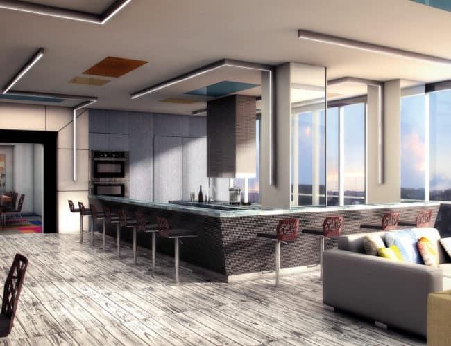 Empire Midtown Condos - Kitchen - Interior Render