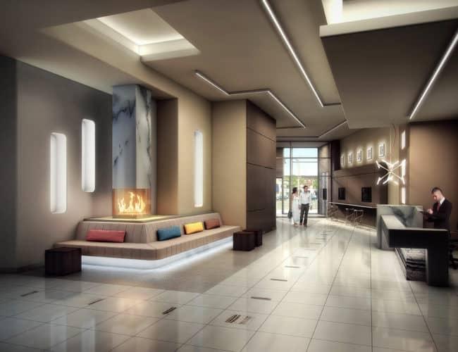 Empire Midtown Condos - Lobby - Interior Render