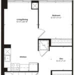 Empire Midtown Condos - M-1D - Floorplan