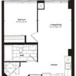 Empire Midtown Condos - M-2 - Floorplan