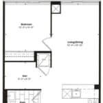 Empire Midtown Condos - M-2D - Floorplan