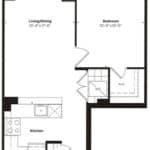 Empire Midtown Condos - M-4 - Floorplan