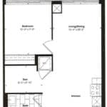 Empire Midtown Condos - M-4D - Floorplan