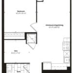 Empire Midtown Condos - M-5D - Floorplan