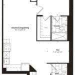 Empire Midtown Condos - M-9D - Floorplan