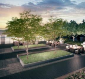 Empire Midtown Condos - Outdoor Terrace - Exterior Render