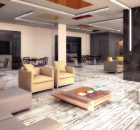 Empire Midtown Condos - Party Room - Interior Render
