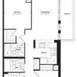 Empire Midtown Condos - U-4 - Floorplan