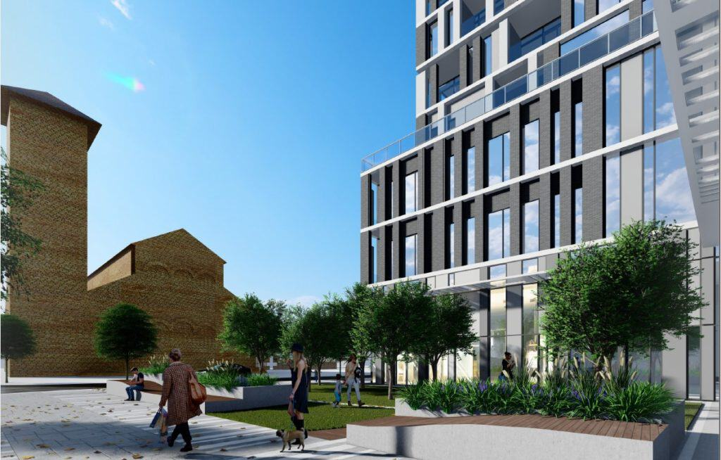 Queen & Parliament Condos - Street Level View - Exterior Render 2