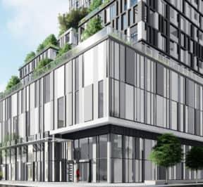 Queen & Parliament Condos - Street Level View - Exterior Render
