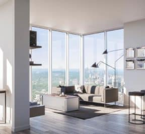 Rodeo Drive Condos - Living Room - Interior Render