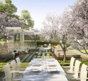 Rodeo Drive Condos - Rooftop Terrace Dining - Interior Render