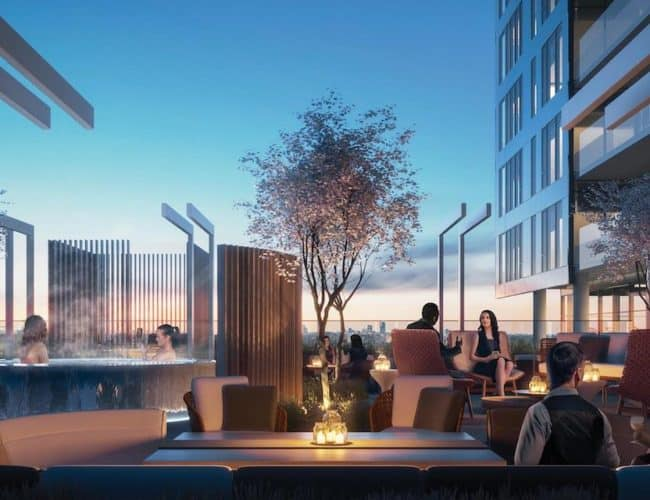 Rodeo Drive Condos - Rooftop Terrace Hot Tub - Interior Render