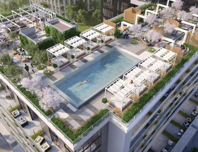 Rodeo Drive Condos - Rooftop Terrace - Interior Render