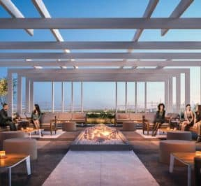 Rodeo Drive Condos - Rooftop Terrace Lounge - Interior Render
