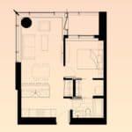 Solstice Montreal Condos - 2303 - Floorplan