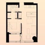 Solstice Montreal Condos - 3108 - Floorplan