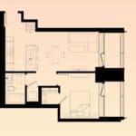Solstice Montreal Condos - 806 - Floorplan