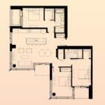 Solstice Montreal Condos - PH 3910 - Floorplan