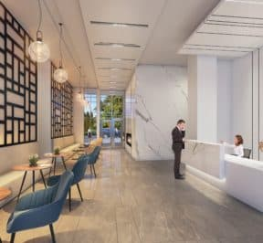 South District Condos - Lobby - Interior Render