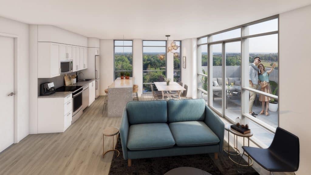 South District Condos - Suite - Interior Render