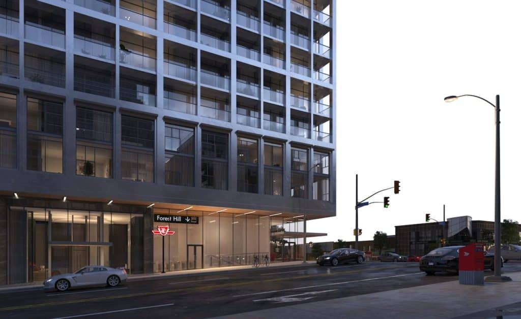 The Forest Hill Condos - Street Level View - Exterior Render 2