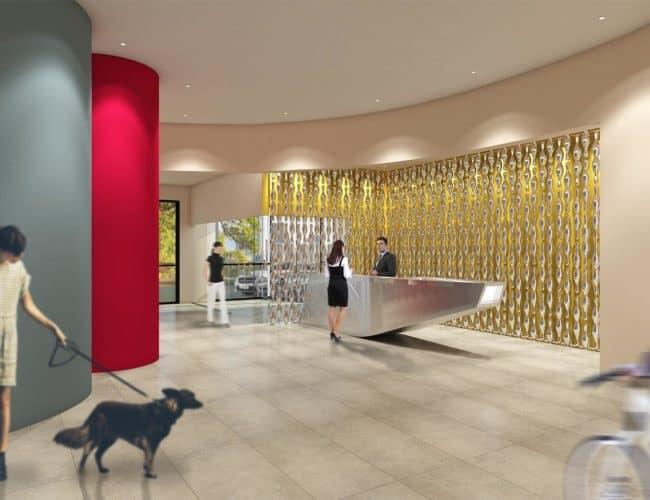The Lanes Condos - Lobby - Interior Render