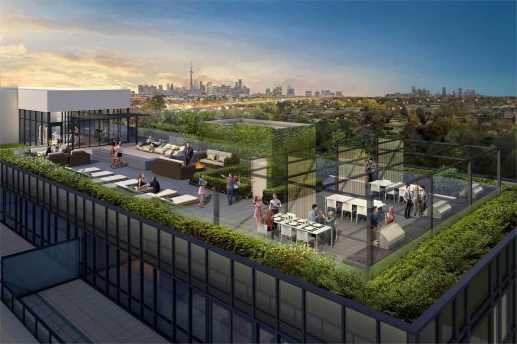 The Lanes Condos - Rooftop Terrace - Exterior Render
