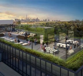 The Lanes Condos - Rooftop Terrace - Exterior Render