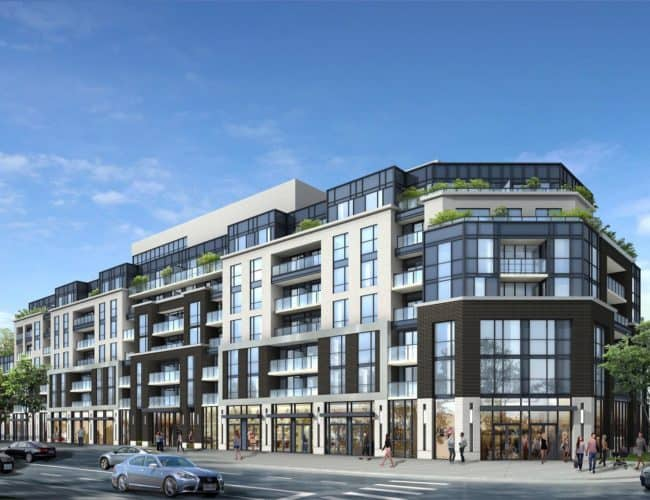 The Lanes Condos - Street Level View - Exterior Render 2