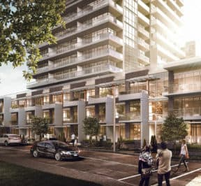 Townhomes at Empire Midtown Condos - Street Level View - Exterior Render